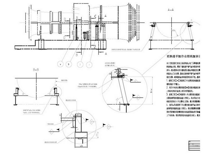 二,透平排气缸返厂与新的透平气缸立式找中,钻铰三个轴向销和十个图片